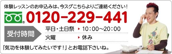 体験レッスンのお申込みは、今スグこちらよりご連絡ください!0120-229-441 受付時間:平日・土日祭 10:00〜20:00 「気功を体験してみたいです!」とお電話下さいね。